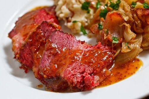 Apricot Glazed Corned Beef   Recipe   Glaze, Cabbage and ...