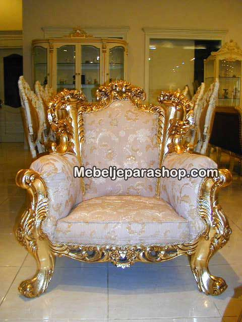 Kursi Tamu Mewah Jepara - Luxury Sofa Gold Leaves