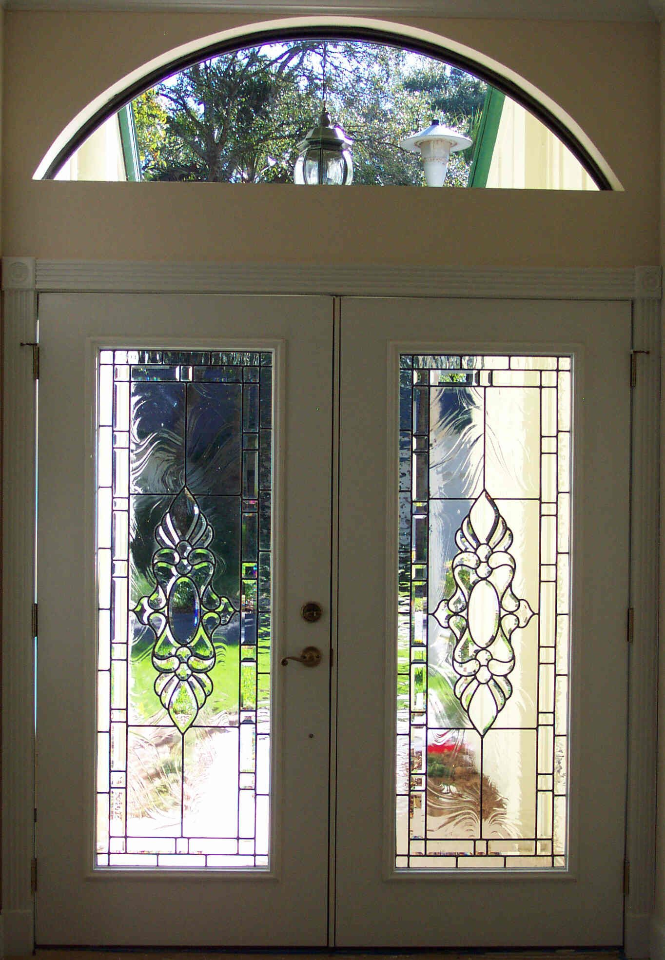Custom Beveled Glass Door Inserts For Front Entry. Created By Designer Art  Glass Daytona Beach