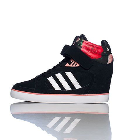3b34b190ace3 Adidas Amberlight Up Sneaker (Wedges) │Awww. I like the flowers and the pink  piping.