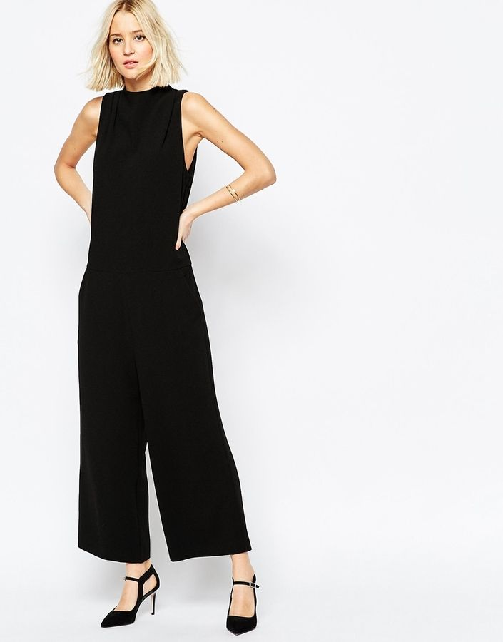 ASOS COLLECTION ASOS Premium Jumpsuit with High Neck