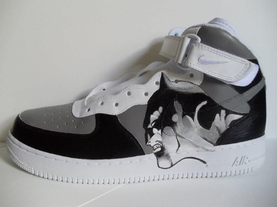low priced 06863 5fe5e Batman Air Force Ones. Find this Pin and more on Custom Painted Shoes ...