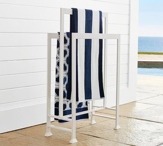 Malibu Pool Towel Valet Pottery Barn Bathroomfurniture