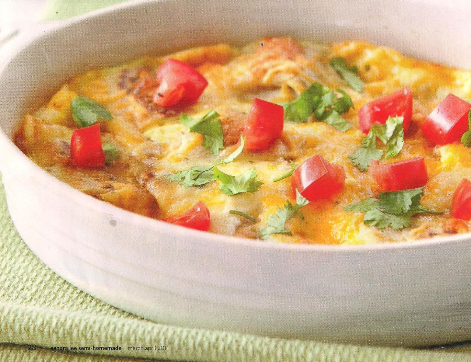 Burrito, egg, and cheese bake.