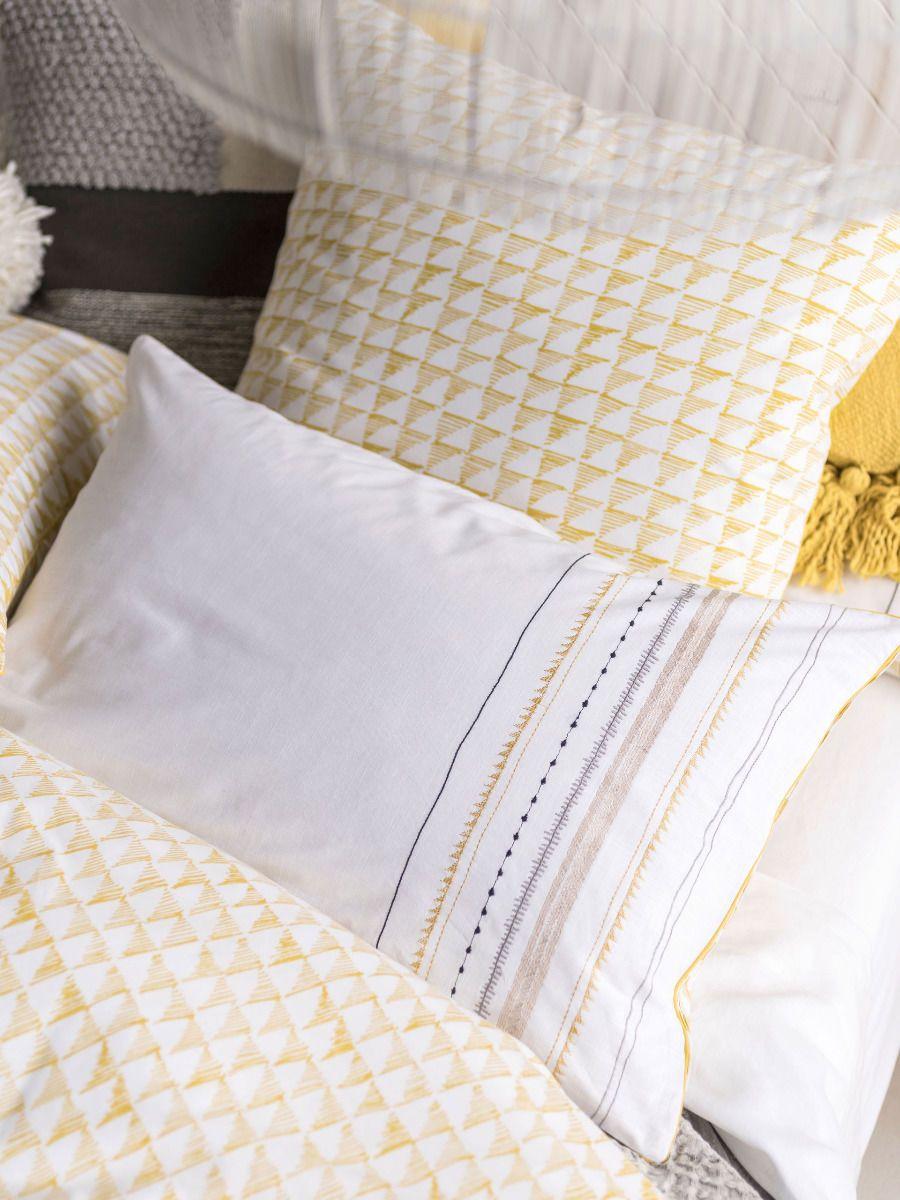 Pieridae New Textured Stripe Duvet Quilt Cover /& Pillowcase Bedding Set Ticking