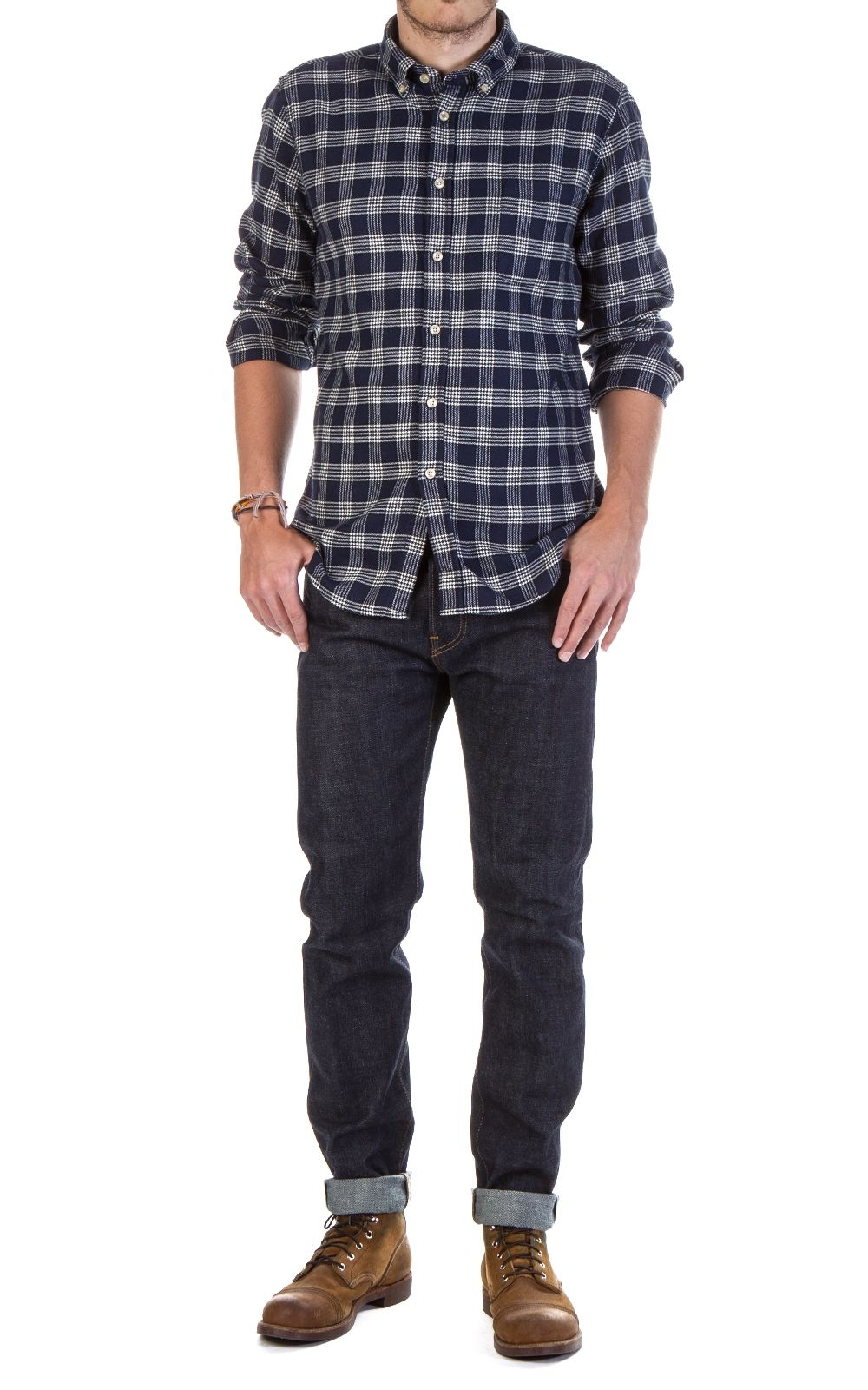 Flannel and denim jacket outfit  Portuguese Flannel Talha Check Shirt Blue  Cultizmus New Arrivals