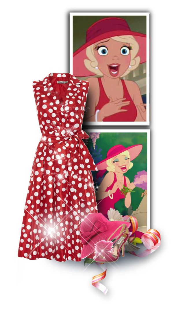 """""""950"""" by melanie-avni ❤ liked on Polyvore featuring Disney, Eliza J, San Diego Hat Co. and Badgley Mischka"""