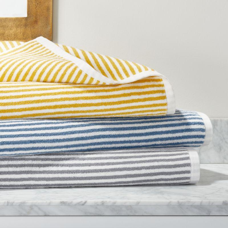 Hemi Organic Stripe Bath Towels Crate And Barrel Striped Bath