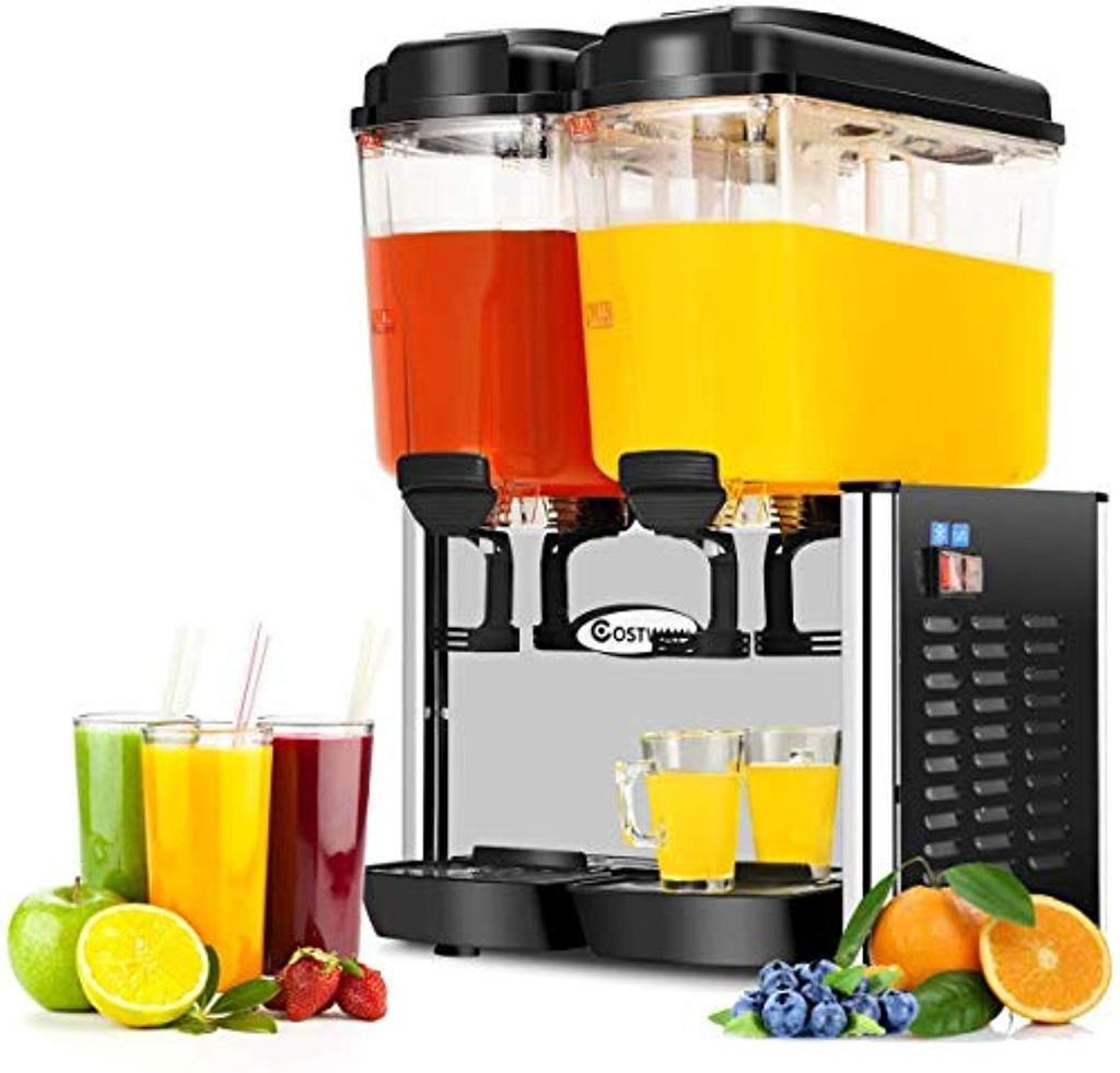 Commercial Beverage Dispenser Machine 9 5 Gallon 2 Tank Juice
