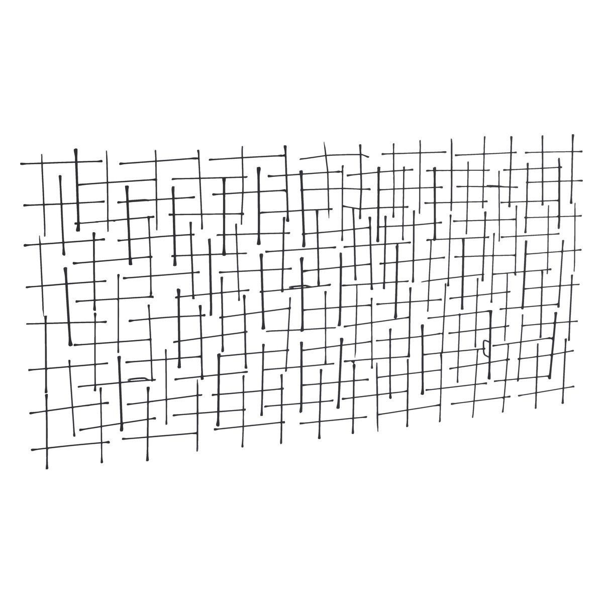 Trellis Black Metal Wall Art