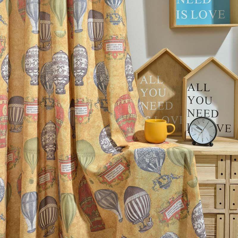 Rideau occultant imprimé en coton pour chambre d\u0027enfant style de