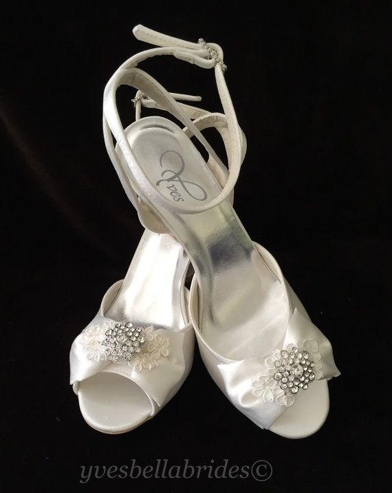 eb7f4795314 TAYLOR Bridal Wedding Wedge Shoes with Lace by YvesBellaBrides