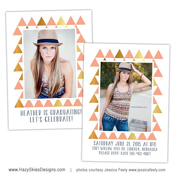 Senior Graduation Photo Card Template For Photographers Senior