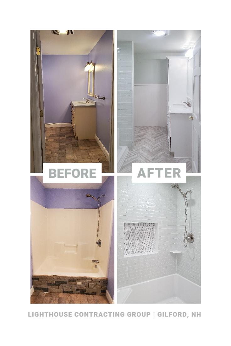 Before And After Bathroom Remodel In 2020 Bathrooms Remodel Tile Shower Niche Bathroom Design Inspiration