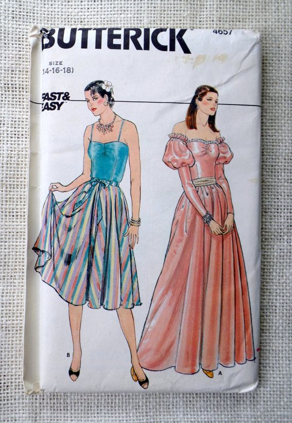 Vintage 1980s sewing pattern Butterick 4657 Bust 36 38 40 leg o ...