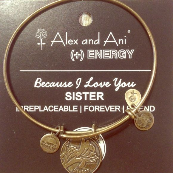 Alex Ani Sister Bracelet Gold Comes With Energy Card Jewelry Bracelets