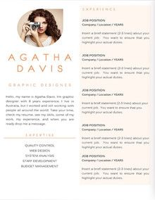 Resume Templates For Microsoft Word Resume Template Ms Word  Business  Pinterest  Modern Resume