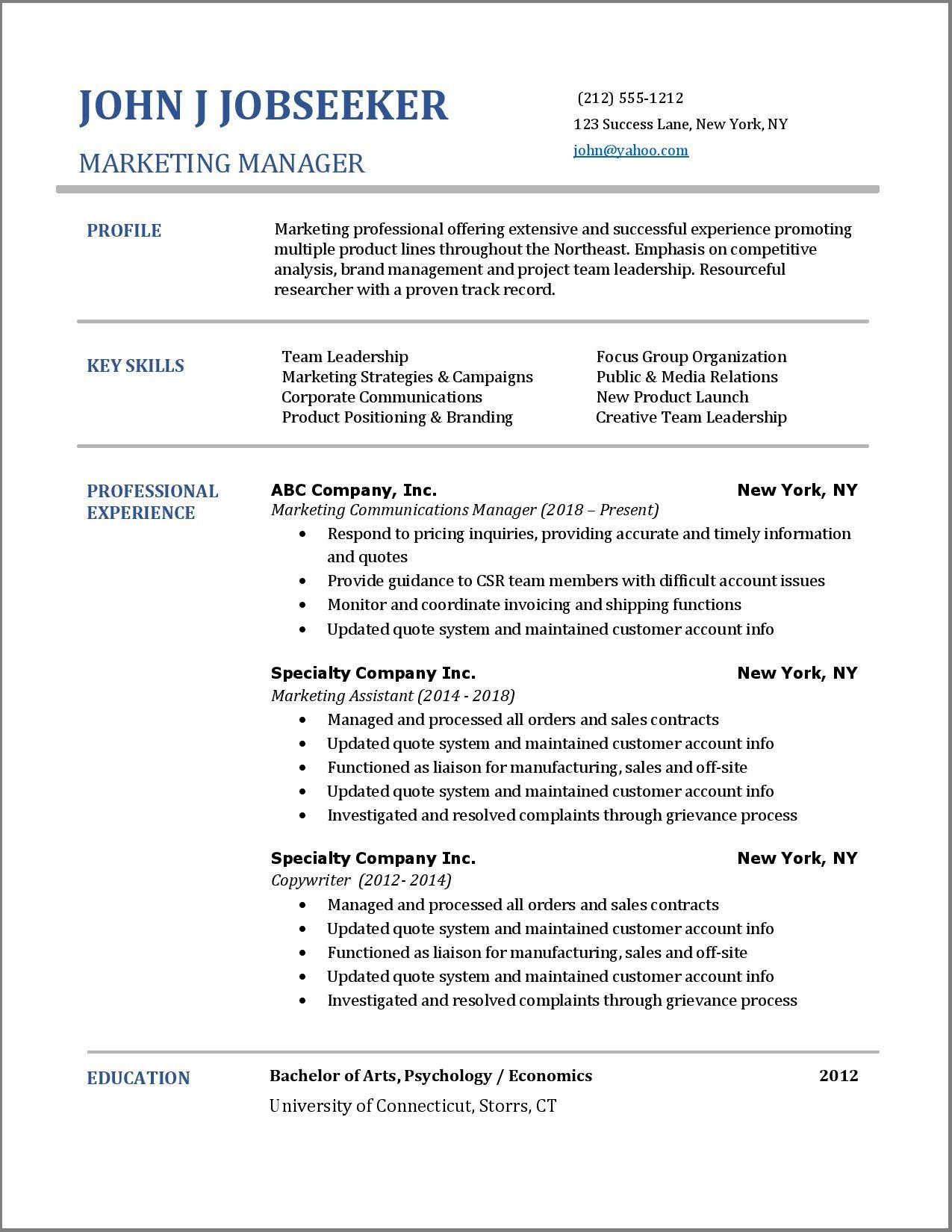 27+ Good looking resume examples Format