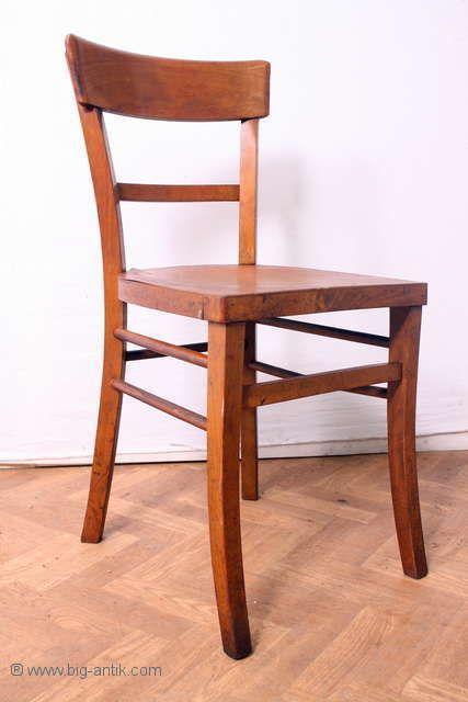 Antiker Frankfurter Stuhl Wirtshausstuhl Brettstuhl Holzstuhl