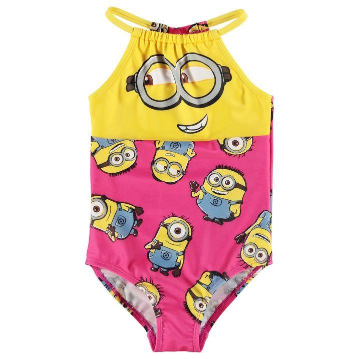 ca4ef708e8ea9 Girls Despicable Me Minion Swimsuit | Blount baby | Kids swimwear ...
