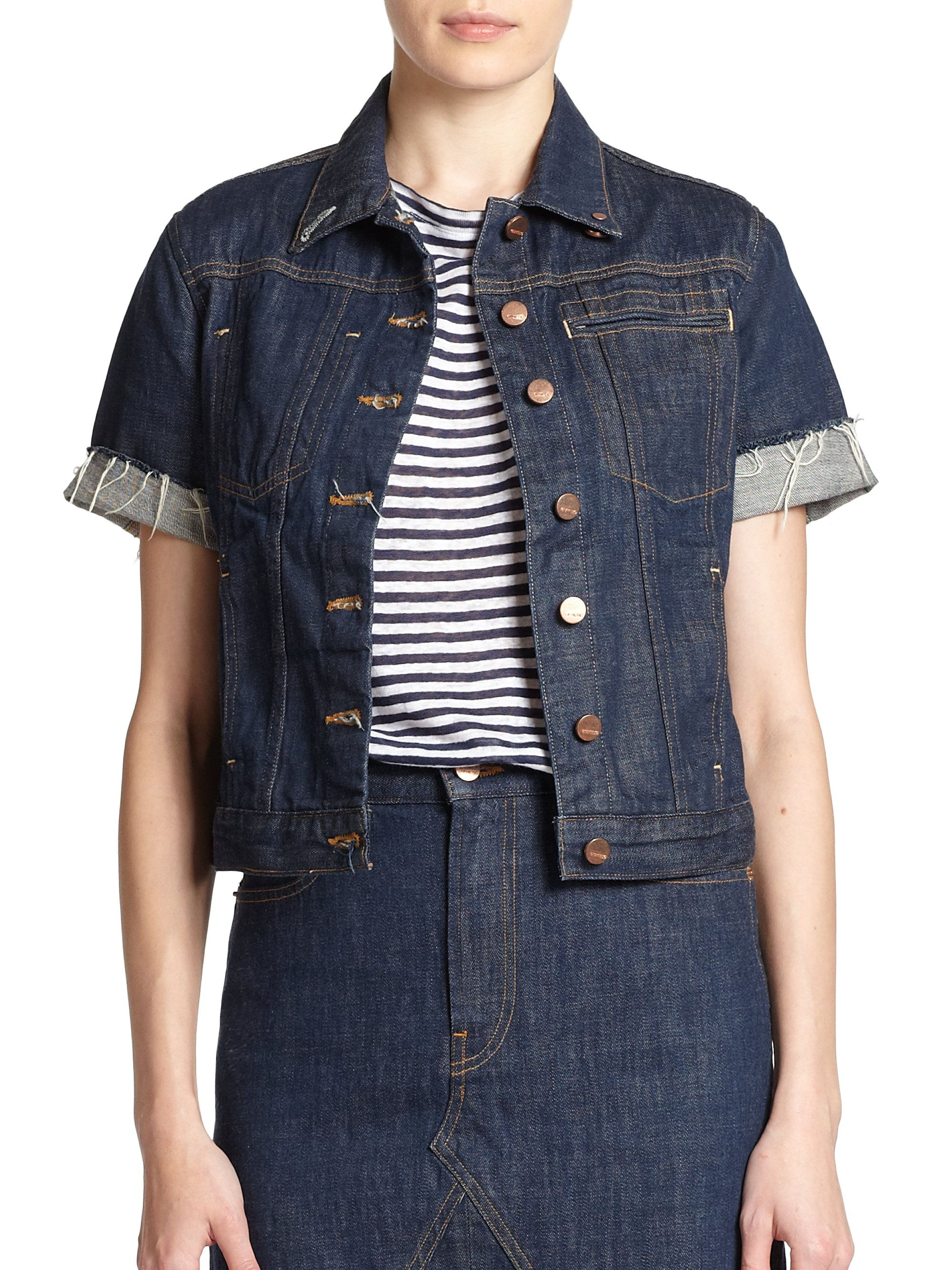 Genetic Denim Blondie Short-Sleeve Denim Jacket | The Fosters ...