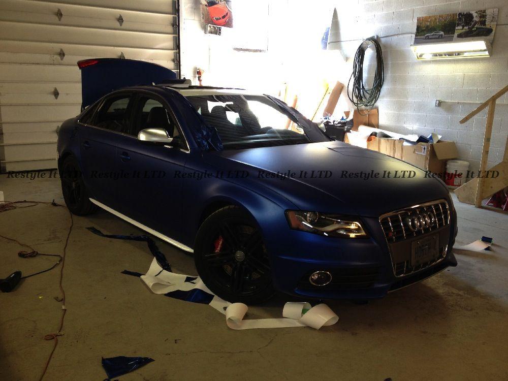 Matte Metallic Blue Audi S4 Vinyl Car Wrap Car Wraps