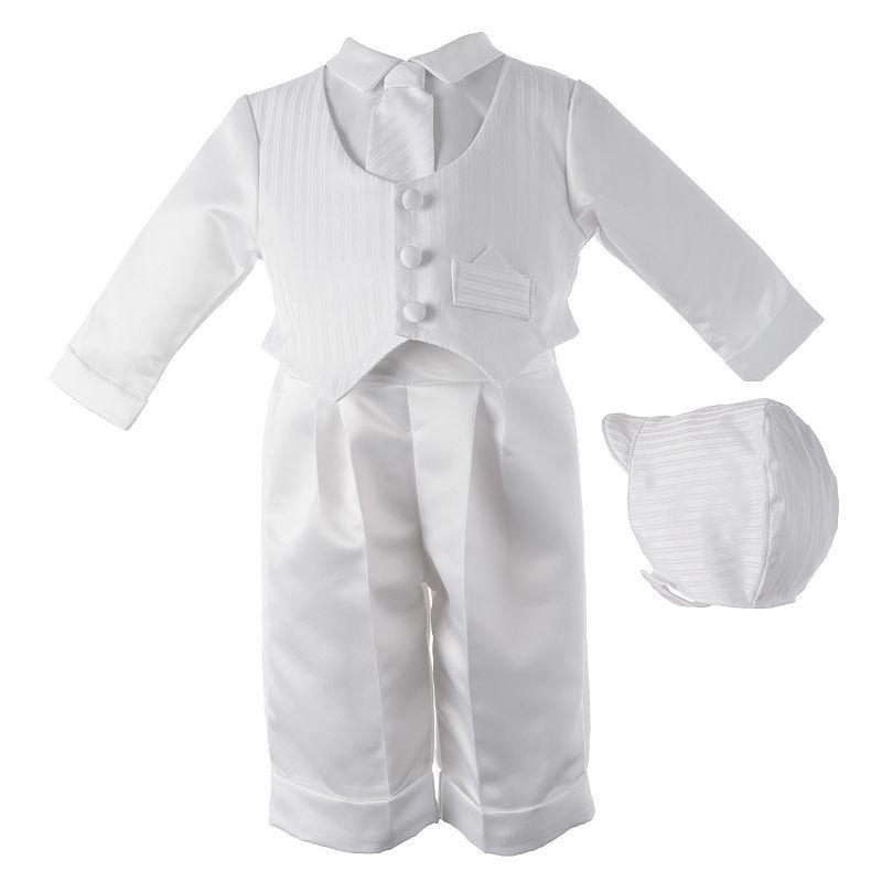 Baby Boy American Originals Dobby Christening Vest Pants Set Size