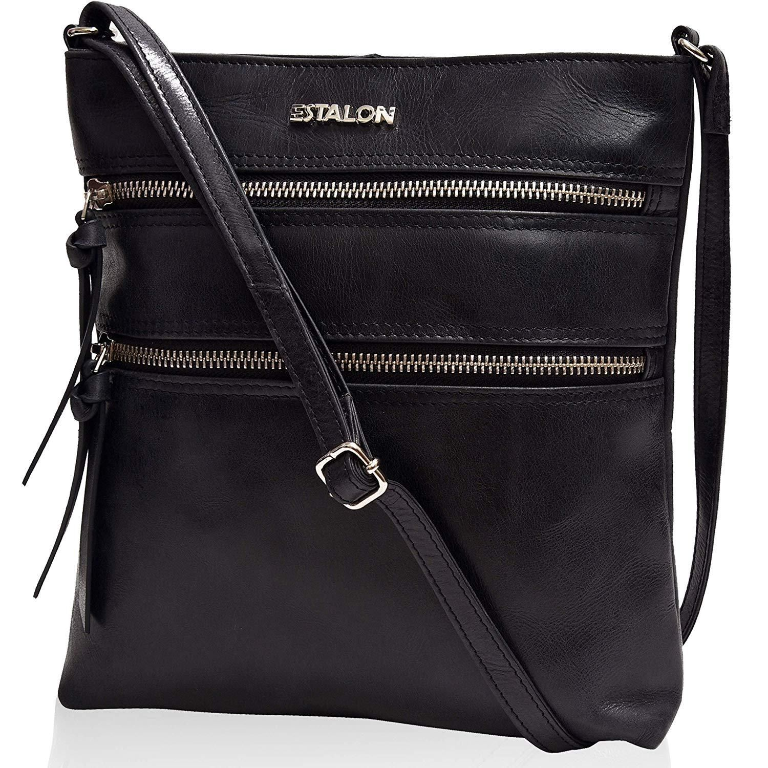 Small Crossover Cross Body Bag Long Over the Shoulder Sling Womens Purses and Handbags Leather Crossbody Purse for Women