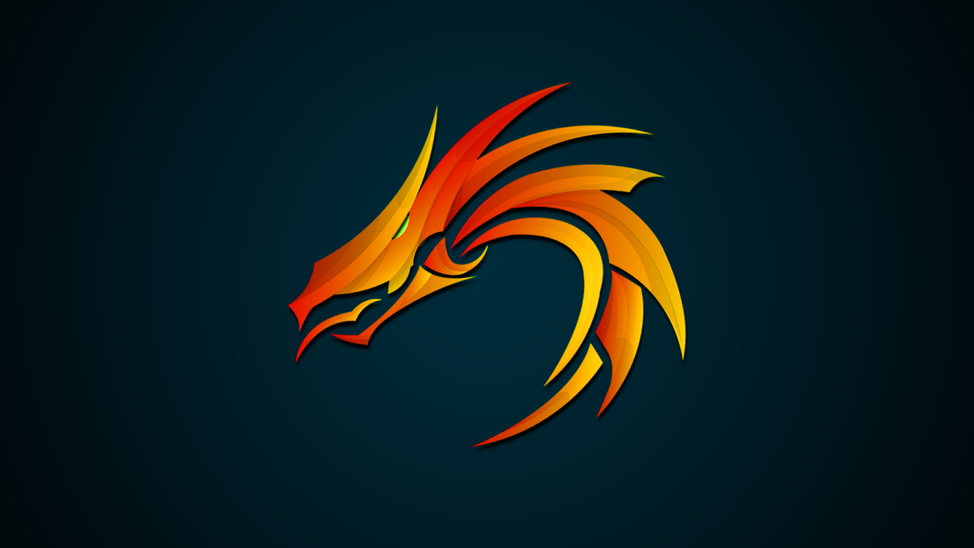 Dragon Head 1920 X 1080 3d Logo Design Vector Art Illustration Logo Design