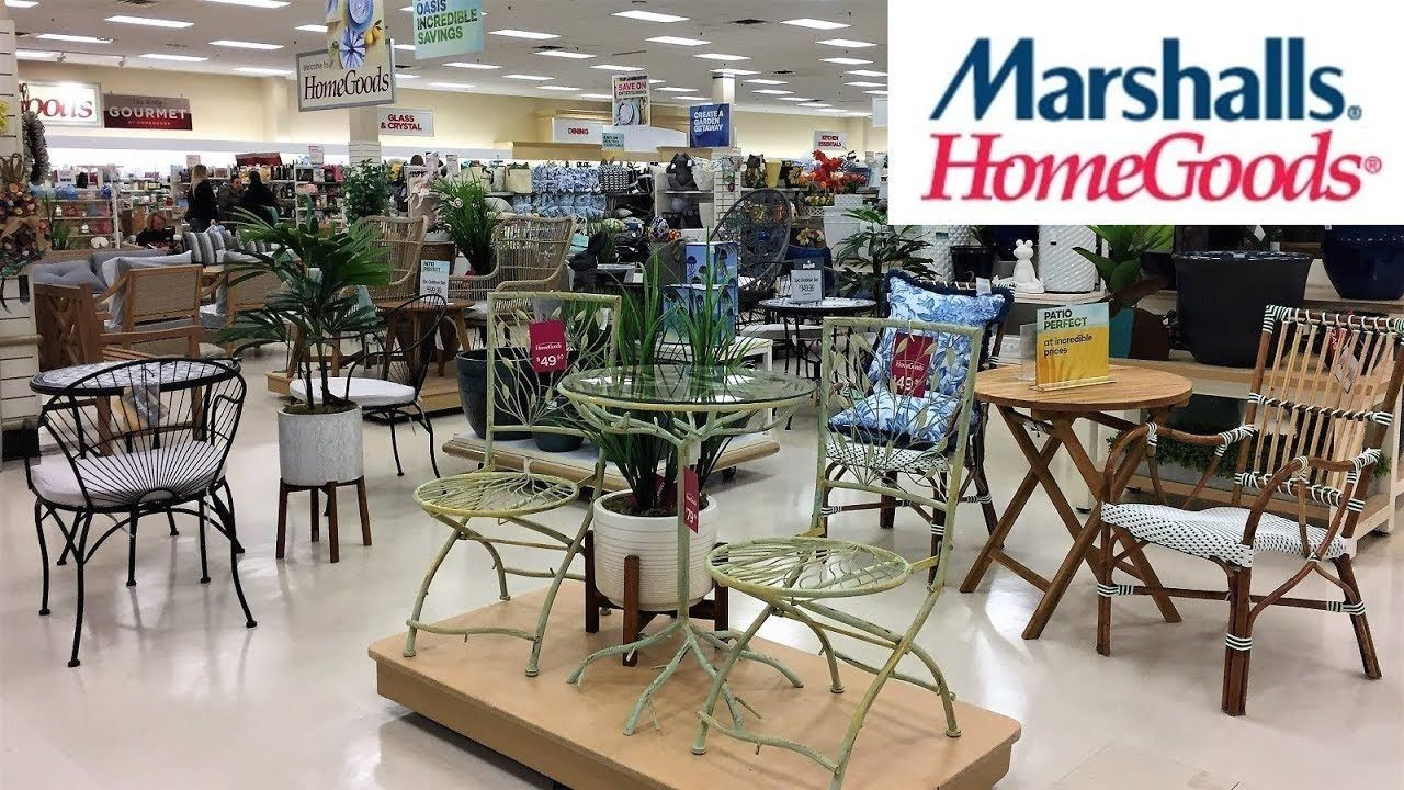 Marshalls Home Goods Outdoor Patio Furniture Home Decor Shop With Me Shopping Store Walk Thro In 2020 Patio Furniture Collection Best Outdoor Furniture Fancy Houses