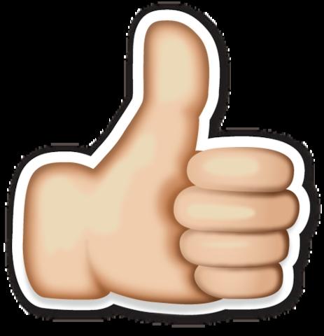 Thumbs Up Sign Emojistickers Com Idei Dlya Obustrojstva Klassa Emodzi Ukrasheniya Dlya Lica