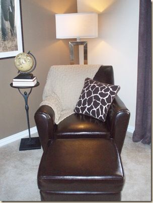 Love chairs and ottomans!  So Cozy!