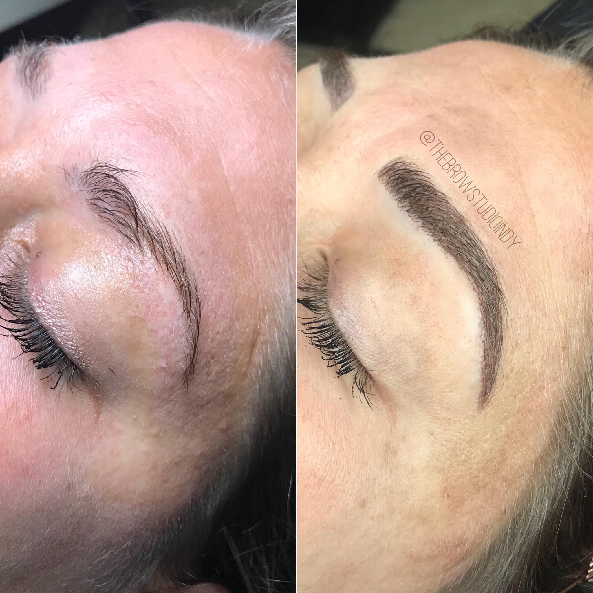 Before And After Microblading At Thebrowstudioindy
