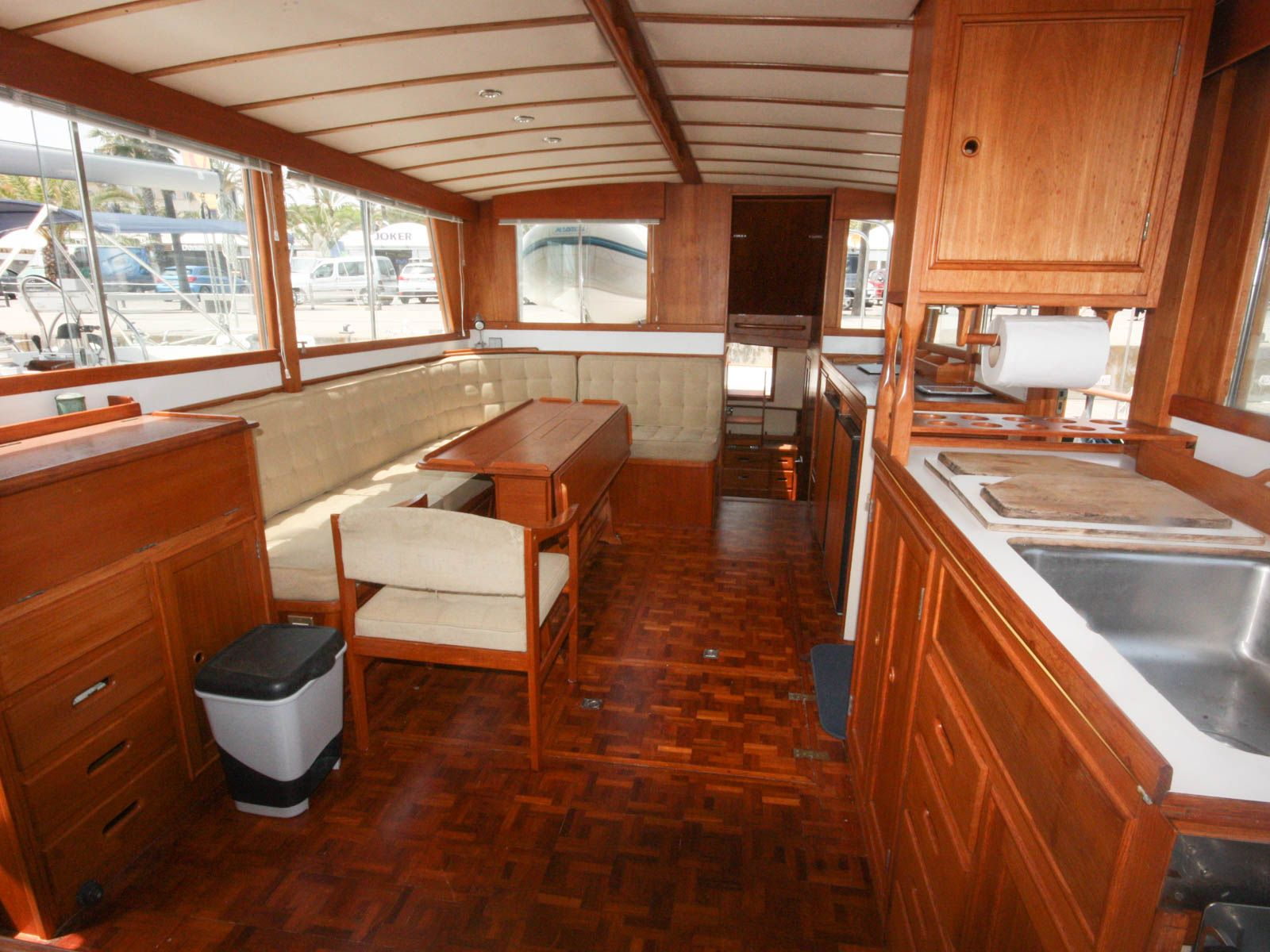 New Listing - Grand Banks 42 Classic | Boatshed Barcelona | Boat interior design, Boat interior, Yacht interior