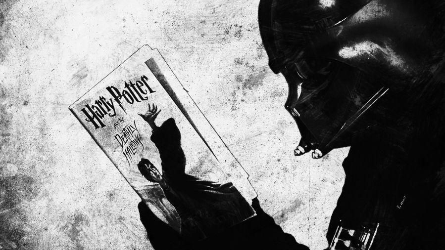Darth Vader Reading Harry Potter 1920 1080 Star Wars Wallpaper Harry Potter Wallpaper Darth Vader Wallpaper