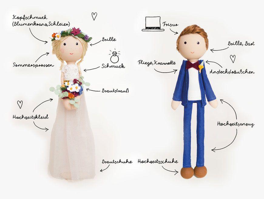 personalisiertes Brautpaar für Torte Hochzeitsfiguren (mit