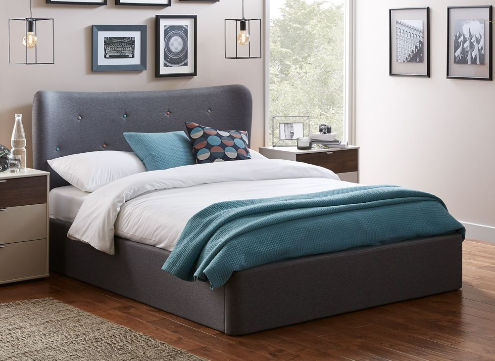 5fedff89efd84d Warne Grey Fabric Upholstered Ottoman Bed Frame | Dreams | Bedroom ...