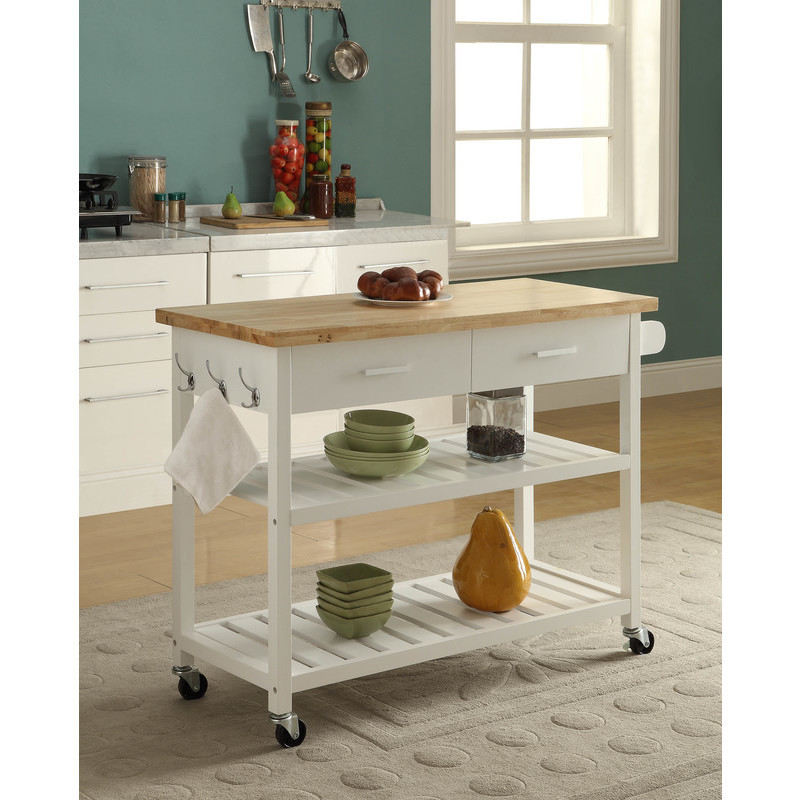 Kitchen Island Trolley With Open