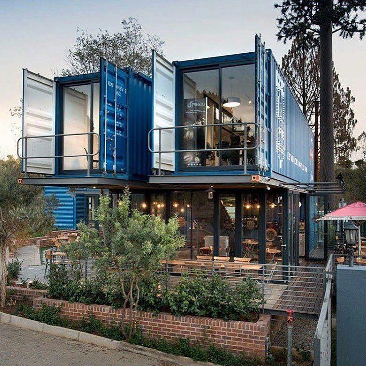 Container Home Design Ideas: 컨테이너 카페, 집 서재, 미니멀리즘 데코