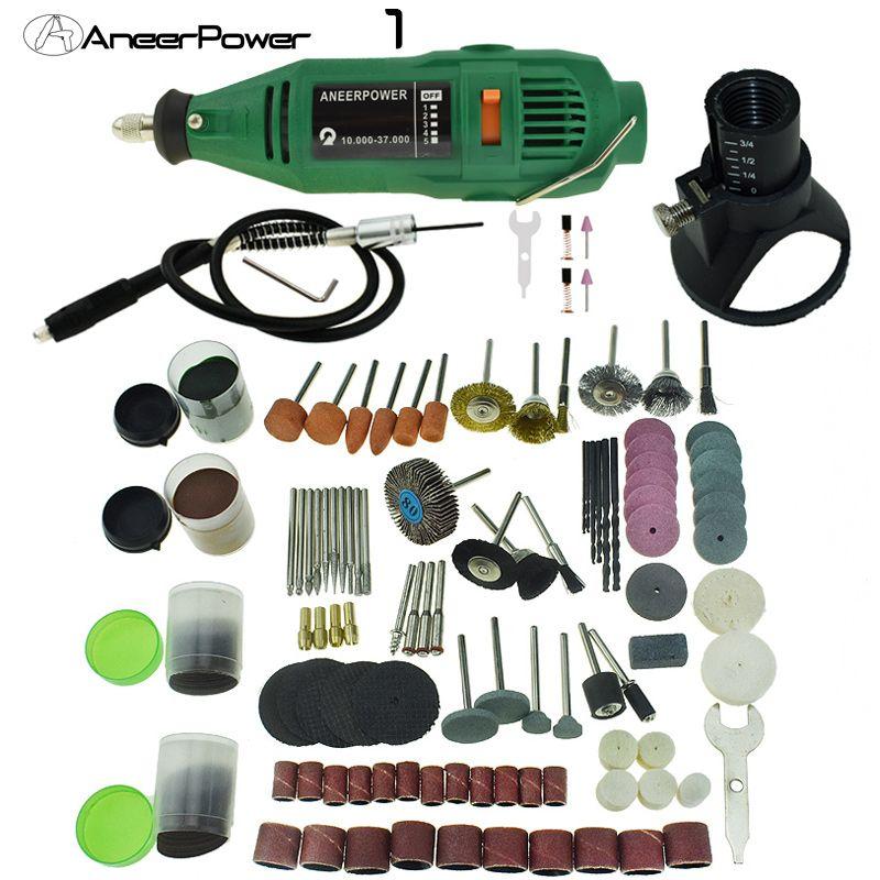 180W Mini Drill Electric Engraving Polishing Machine Grinder Power Rotary Kit