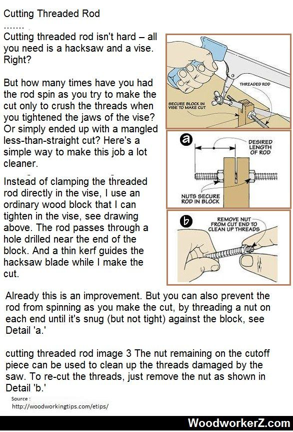 How To Cut Threaded Rod With Hacksaw
