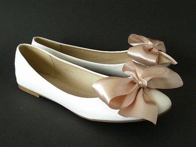 Balerinki Business Slub Wesele Kokarda Kolory R 38 5570653169 Oficjalne Archiwum Allegro Fashion Shoes Flats