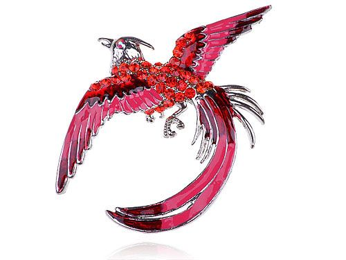 Captivating Like And Share If You Want This Hot Neon Pink Enamel Painted Crystal  Rhinestone Gem Phoenix Bird Brooches Pins Tag A Friend Who Would Love This!