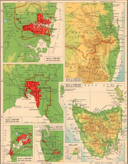 Map Australia Major Cities.Size Of Australian Major Cities In The 1940 S Aust Tasmanian