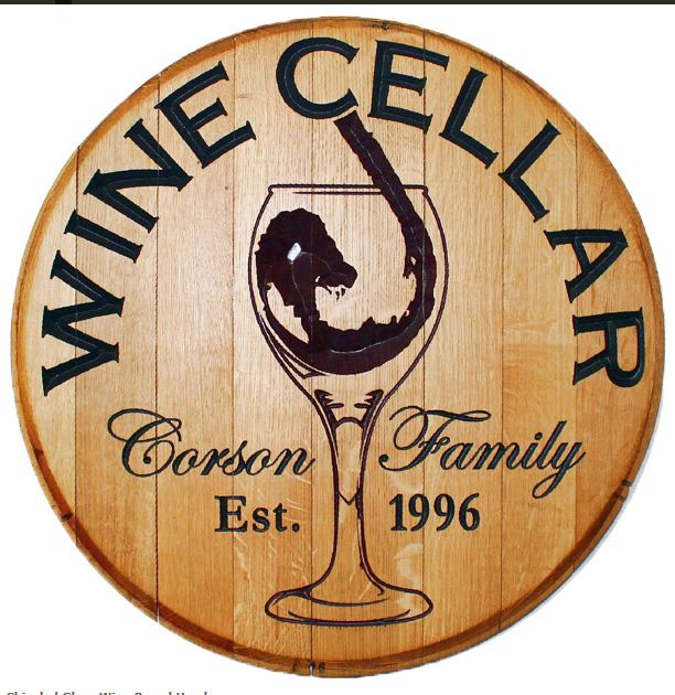 Let this beautiful barrel sign welcome your guests to your home wine bar winery tasting room or wine cellar. This Personalized wood sign is made from a ...  sc 1 st  Pinterest & Let this beautiful barrel sign welcome your guests to your home ...