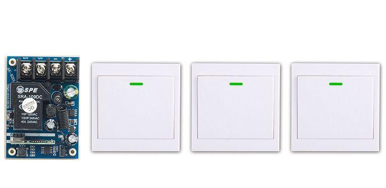latest DC12V 24V 36V 48V 1CH Remote Switch Receiver Wall Transmitter