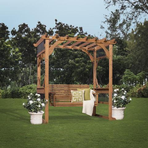 Cedar Pergola Swing | Pergola swing, Cedar pergola and Pergolas on deck hammock ideas, bedroom hammock ideas, fire pit hammock ideas, garden hammock ideas,