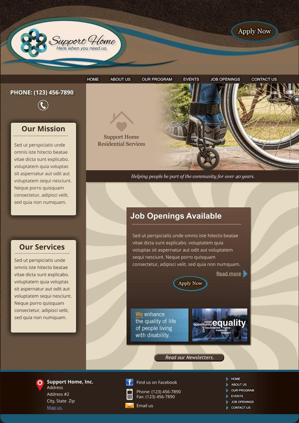 Xara Web Designer 365 Premium Templates - Residential Home Assisted ...