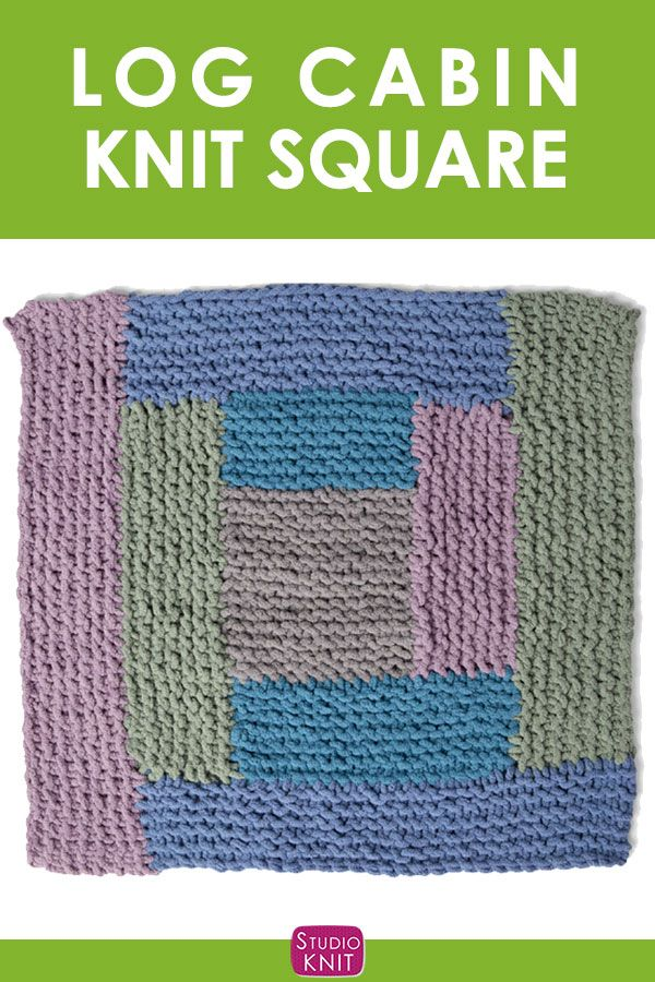 Log Cabin Knitting Square in the Bernat Stitch Along. | Craft Ideas ...