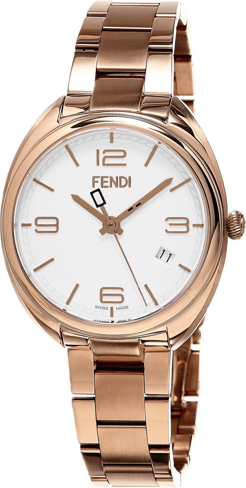 Fendi womenus umomentou swiss quartz stainless steel dress watch
